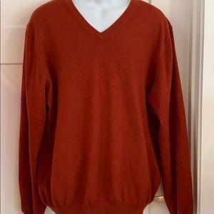 Brooks Brothers men's XL merino wool sweater